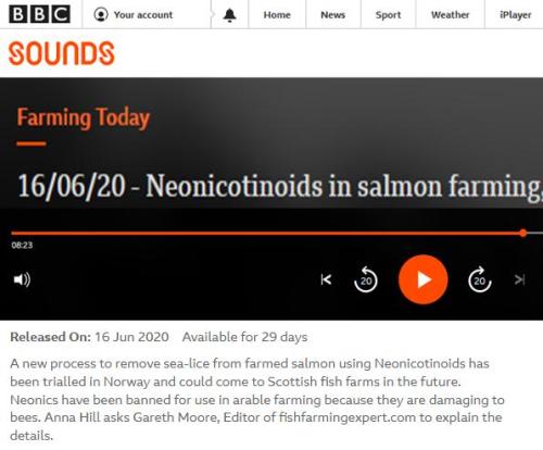 BBC Farming Today 16 June 2020