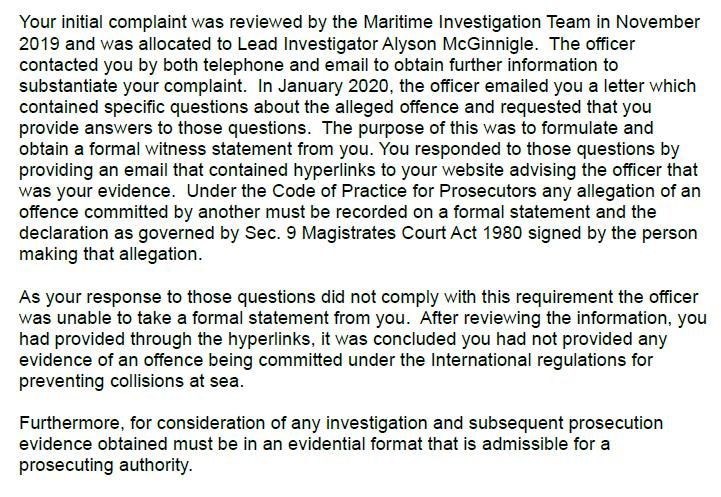 M&CA Complaint reply re Ardintoul 18 June 2020 Letter from Brian Johnson #2