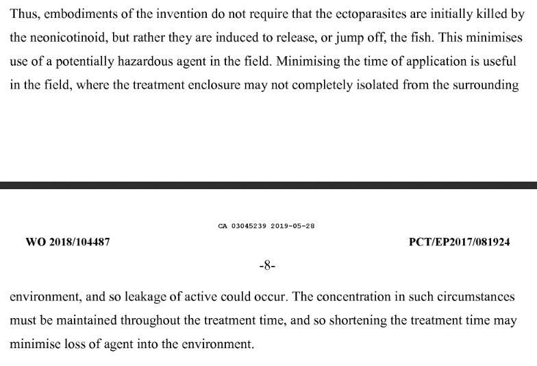 Imidacloprid Canadian Patent CA3045239A1 #14