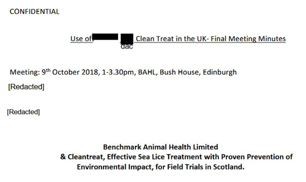 CleanTreat FOI Disclosures by the Scottish Government Dec 2019 #3 Oct 2018 meeting