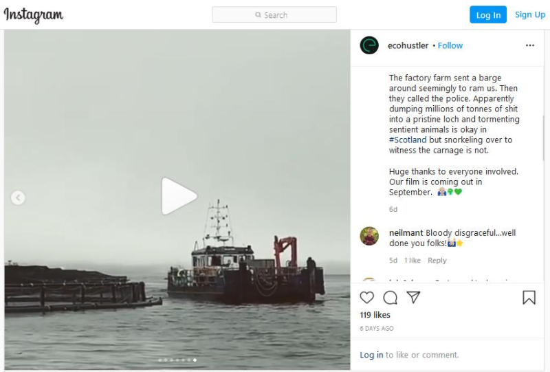 Instagram Matt on Loch Creran July 2020 Video #2