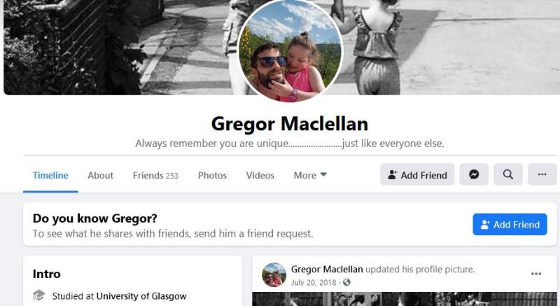 Gregor Facebook #1