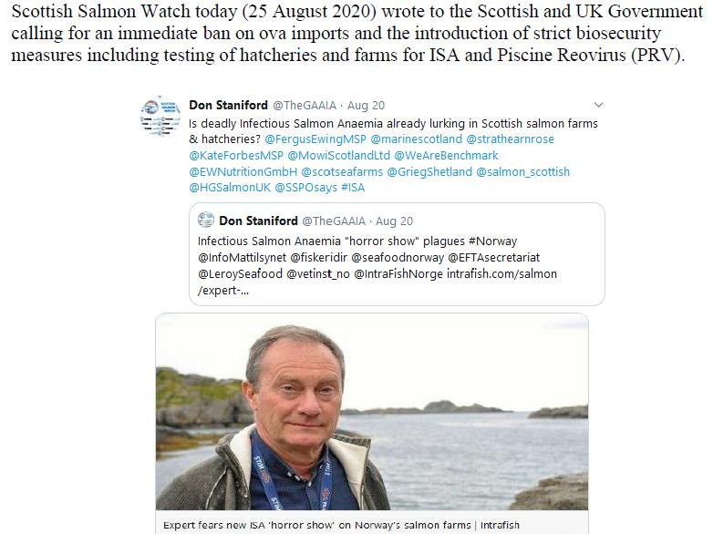 PR Norwegian Salmon Ova Slip Back Into Scotland 25 August 2020 #3 b