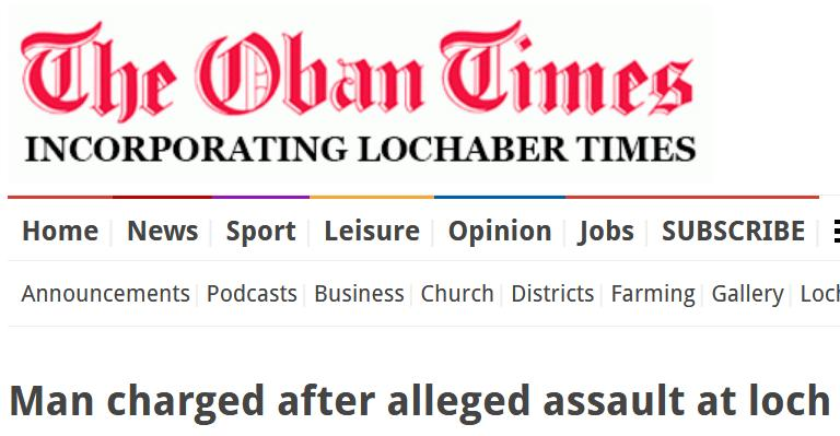 Oban Times charged 25 Aug 2020