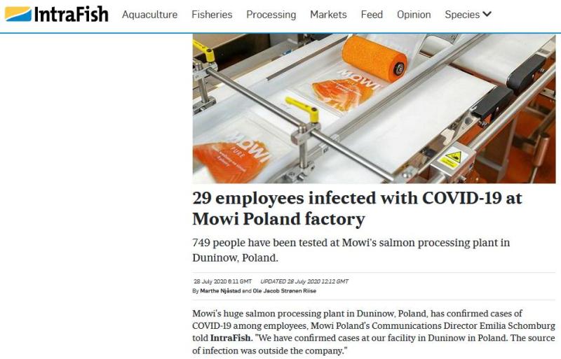 Covid Poland 28 July 2020