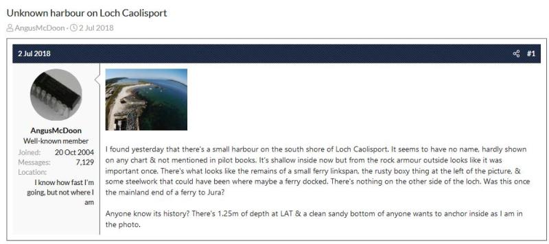 Caolisport harbour