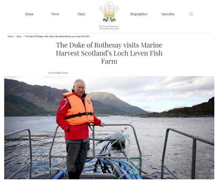 Prince Charles at Marine Harvest visit