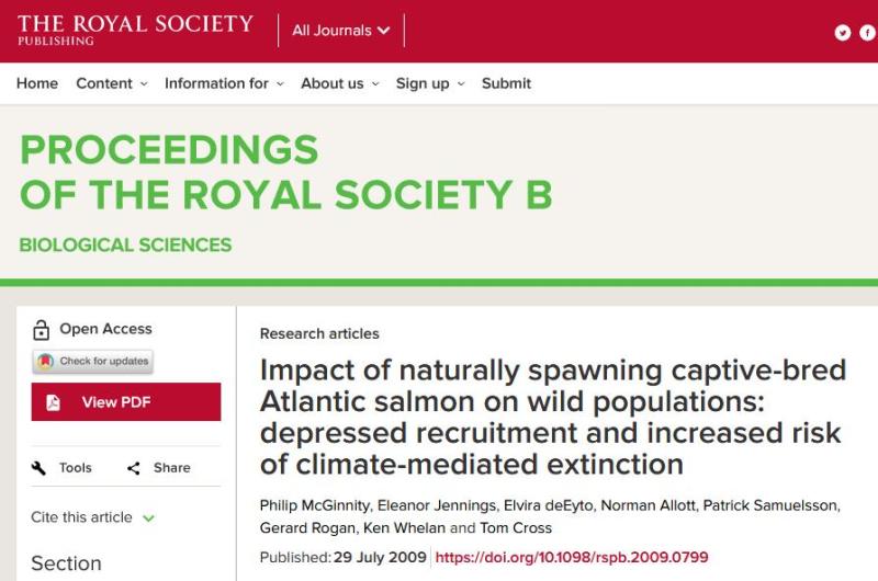 Royal Society paper 2009