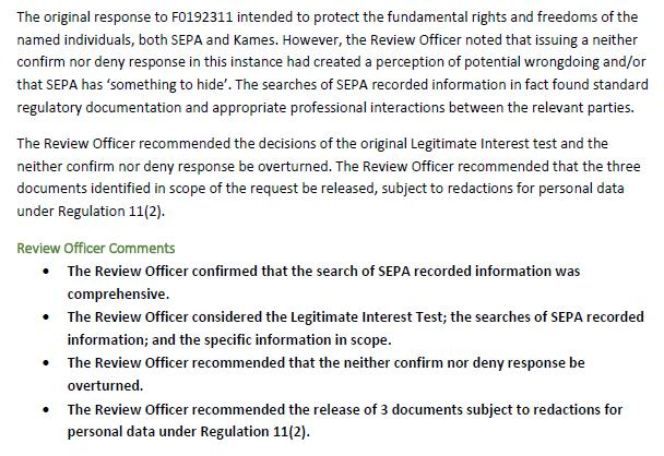 F0192449 Review Officer Report SEPA October 2020 #3