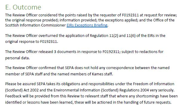 F0192449 Review Officer Report SEPA October 2020 #4