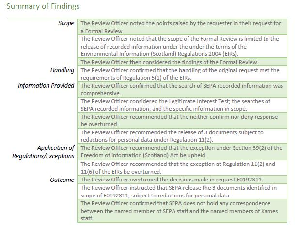 F0192449 Review Officer Report SEPA October 2020 #6