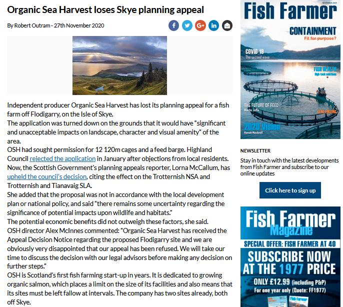 Fisf Farmer 27 Nov 2020 lose planning appeal