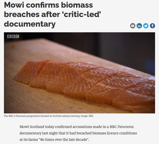 Biomass Exceedances since 2002 up to Sept 2020 #5 Mowi admission BBC Panorama