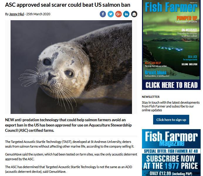 Fish Farmer 25 March 2020 ASC seal scarer #2