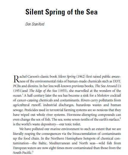 Silent Spring chapter #1
