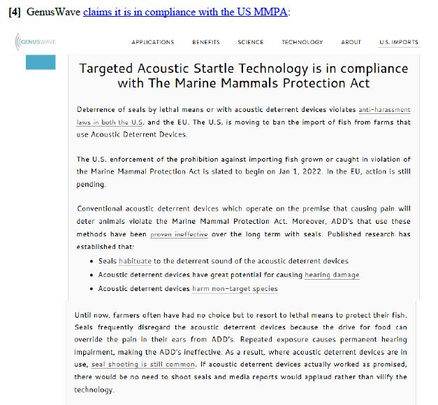 Genuswave MMPA compliance #1