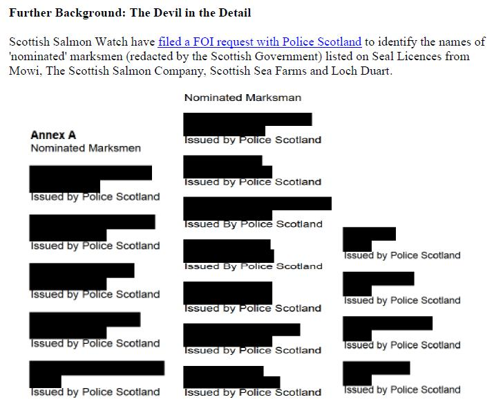 PR Illegal Killing of Seals by Scottish Salmon Farms 25 Feb 2021 #14 Marksmen redacted