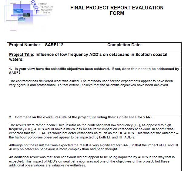 SARF ADD report #6 SNH FOI disclosure June 2020