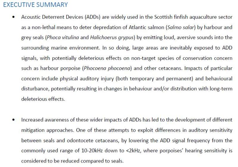 SARF ADD report #12 Executive summary