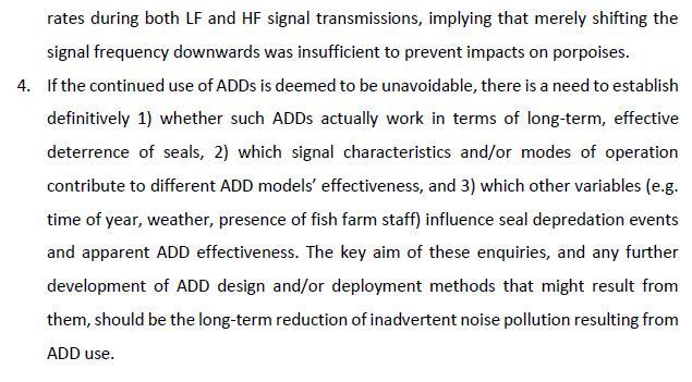 SARF ADD report #15 Executive summary