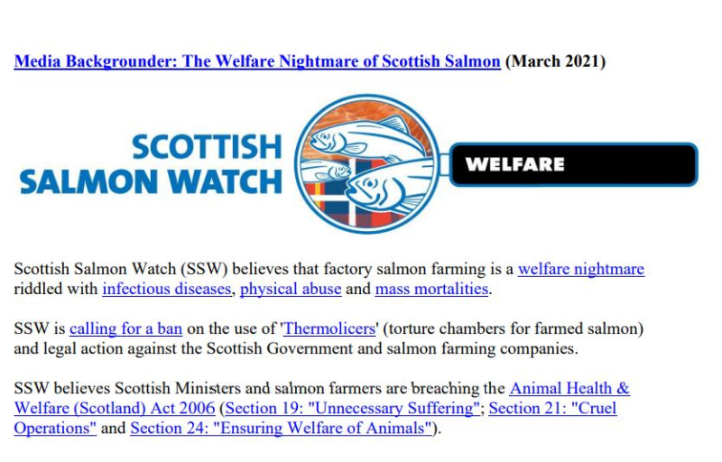 Welfare of Salmon Farming Summary March 2021 #1