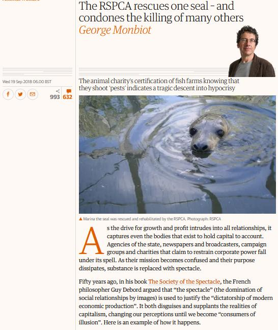 Monbiot on RSPCA Guardian Sept 2018 #1