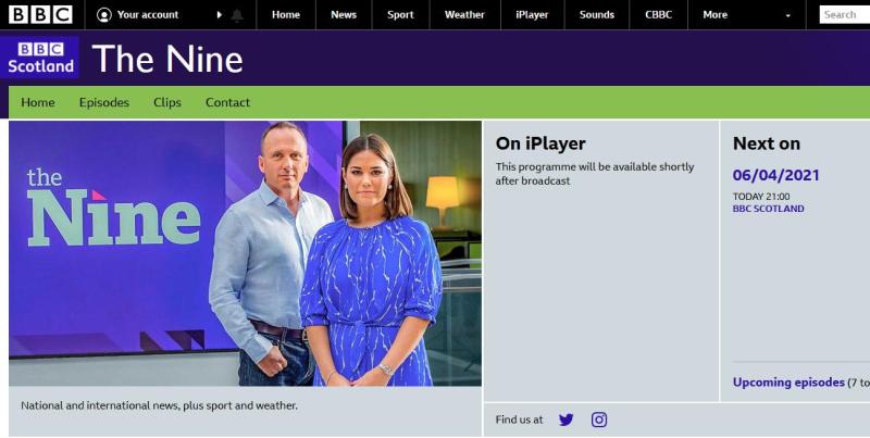 BBC Thee Nine 6 April 2021