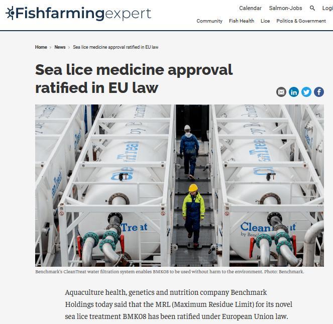Fish Farming Expert 16 April 2021 EU law MRL