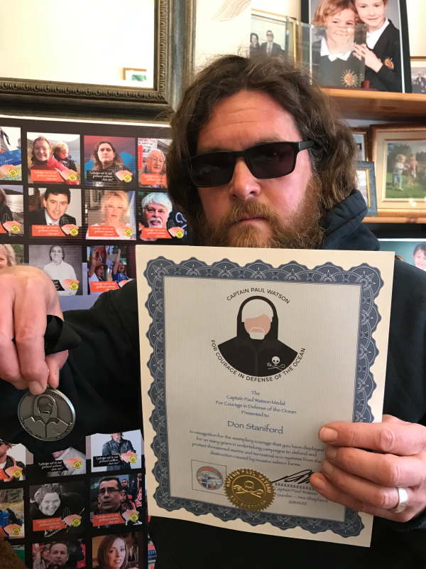 Captain Paul Watson award April 2021 #4