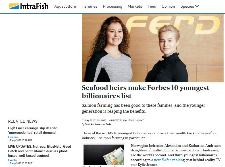 Intrafish Seafood billionnaires