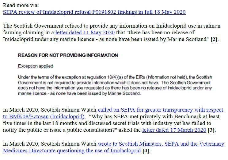 PR Imidacloprid trial in Loch Ailort by Mowi 20 May 2020 #12