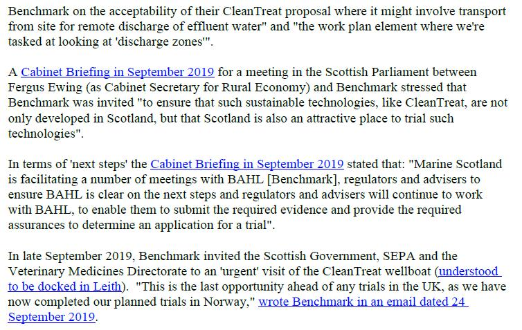 PR Imidacloprid trial in Loch Ailort by Mowi 20 May 2020 #21