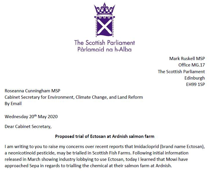 Ruskell letter re Imidacloprid to Scottish Ministers 20 May 2020 #1
