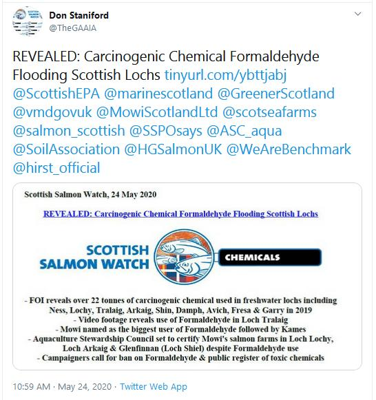 PR Cancer-causing chemical flooding Scottish lochs 24 May 2020 Tweet #1