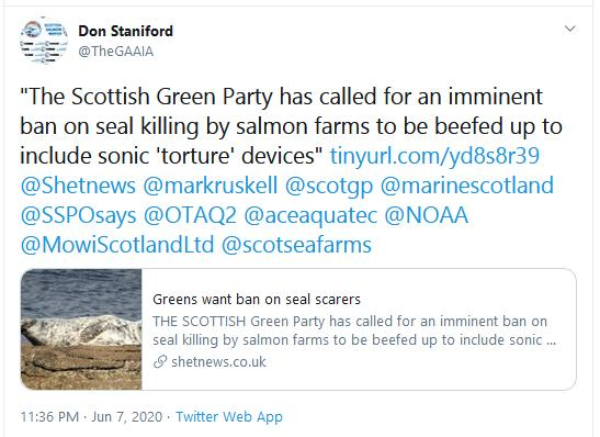 Shetland News 7 June 2020 ADD ban Greens Tweet
