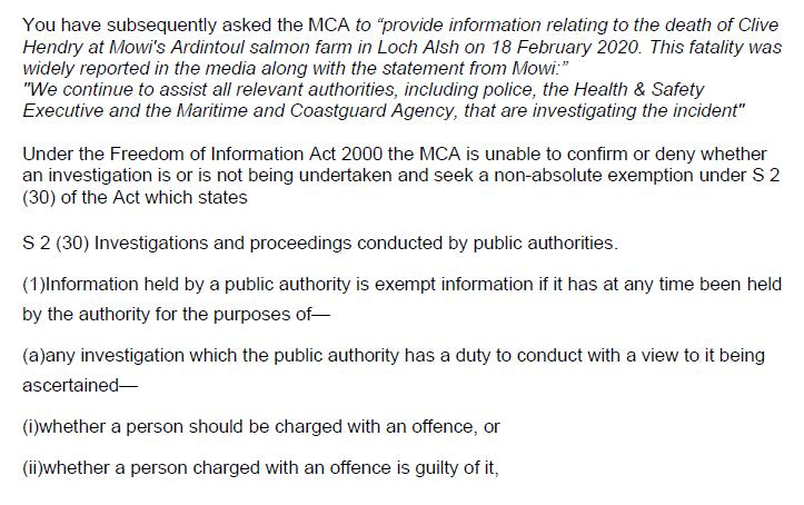 M&CA FOI reply re Mowi death in Loch Alsh 18 June 2020 #2