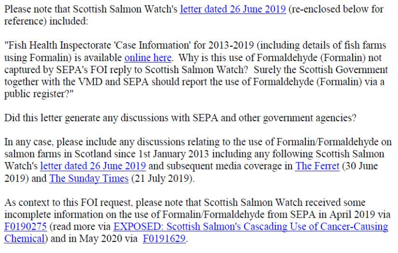 FOI letter to SG & VMD re Formalin 21 May 2020 #3