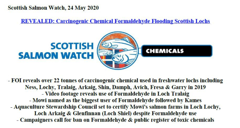 PR Cancer-causing chemical flooding Scottish lochs 24 May 2020 #1