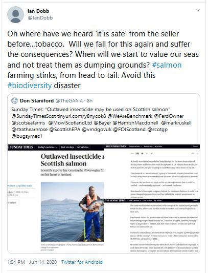 Imidacloprid Tweet Ian Dobb tobacco 14 June 2020