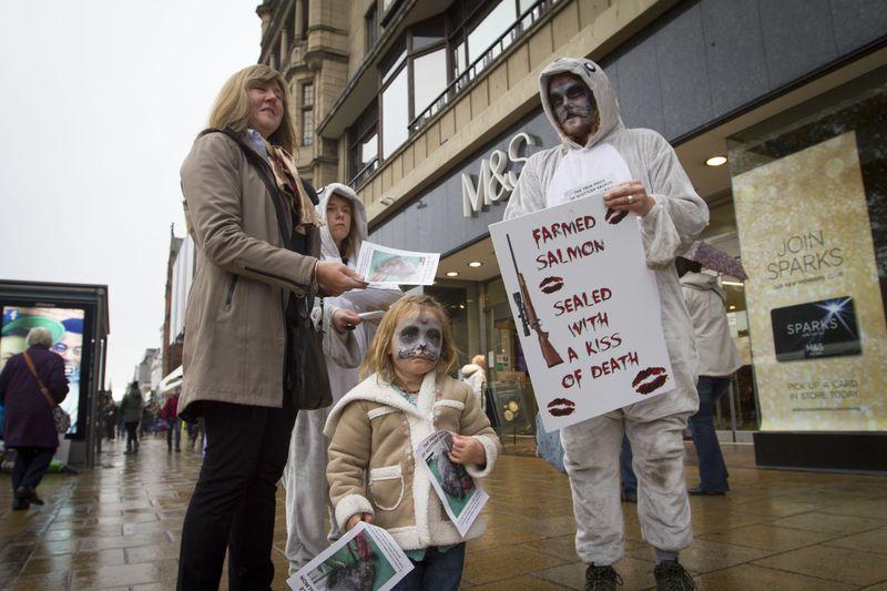 M&S Elsie handing out leaflets #2