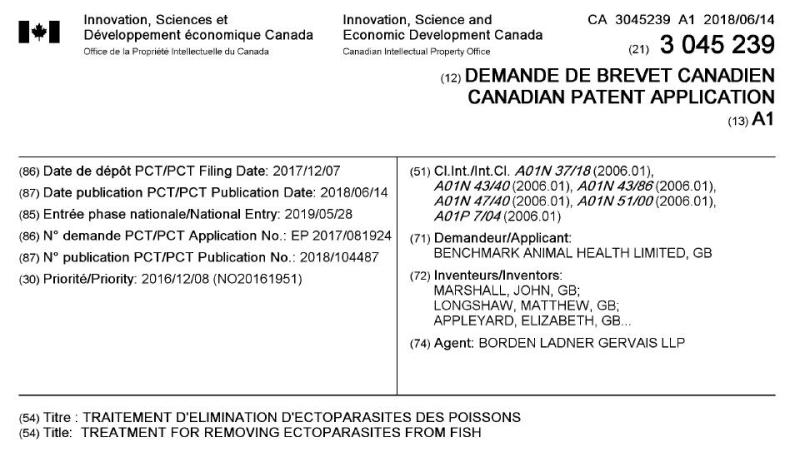 Imidacloprid Canadian Patent CA3045239A1 #1