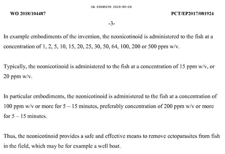 Imidacloprid Canadian Patent CA3045239A1 #8