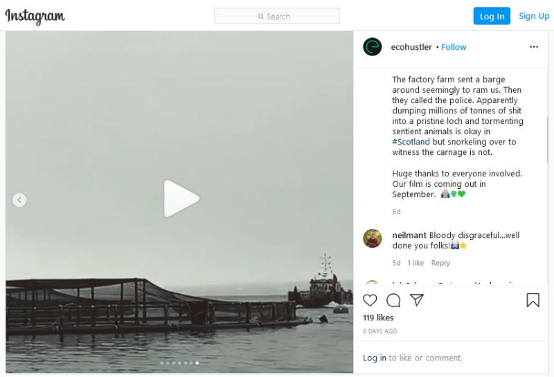 Instagram Matt on Loch Creran July 2020 Video
