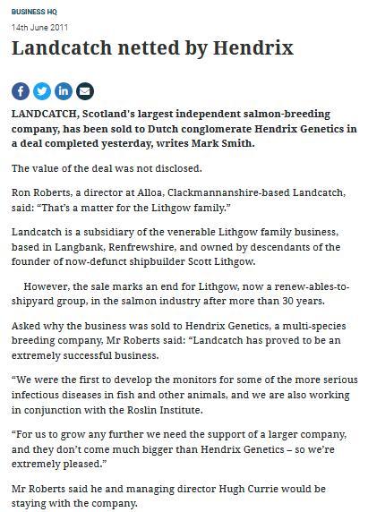 2011 sale to Hendrix Herald