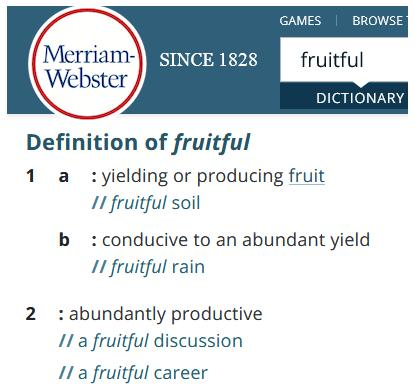 Fruitful blog #3