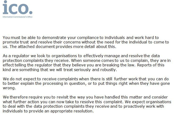 ICO complaint from Lesley Rice 16 Feb 2021 #3
