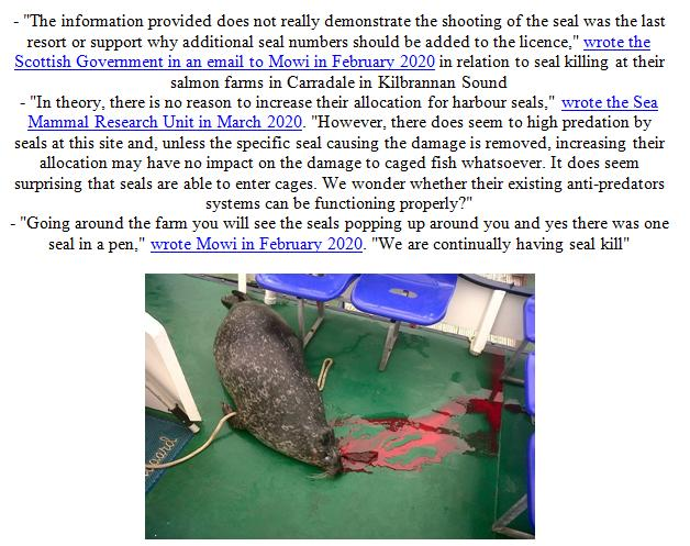 PR Illegal Killing of Seals by Scottish Salmon Farms 21 Feb 2021 #5