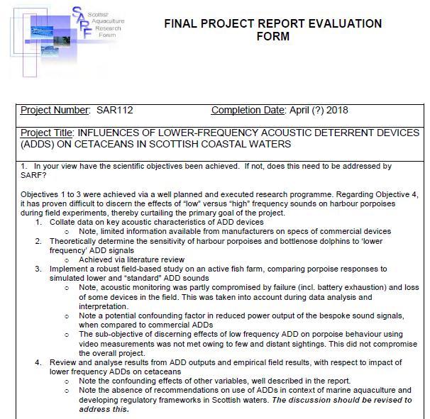 SARF ADD report #4 SNH FOI disclosure June 2020