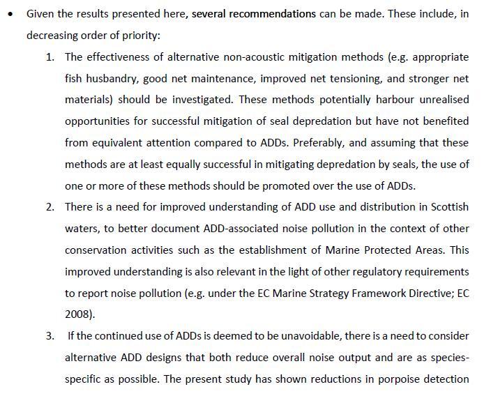SARF ADD report #14 Executive summary