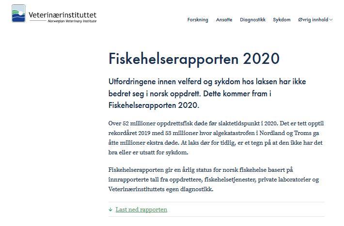 Norway Fish Health report 2020 Norwegian #1